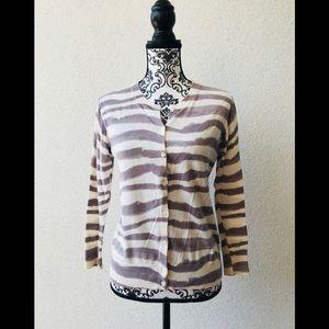 🎉 J.Crew elegant zebra cardigan beige M